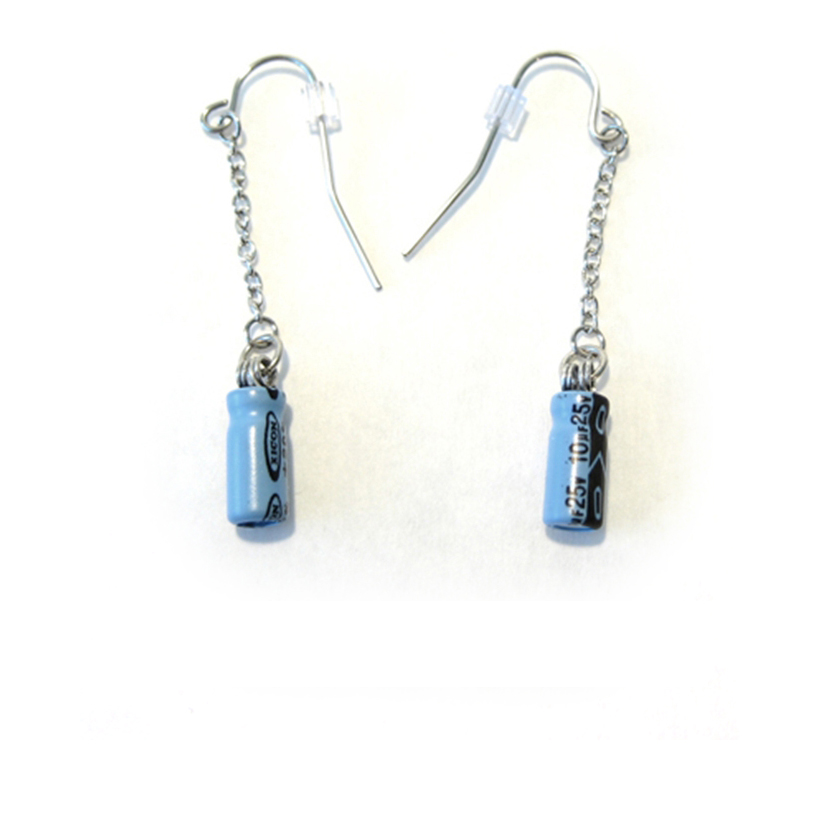 Teal Capacitor Earrings
